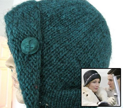 "Free Knitting Pattern for Easy Virtue Cloche - Fanny Liege was inspired by  the cloche hat the main character wears in the movie ""Easy Virtue"". 2565582f18a"