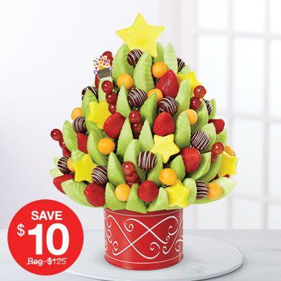 Christmas Tree Bouquet Edible Arrangements Fruit Basket Gift Edible Fruit Arrangements