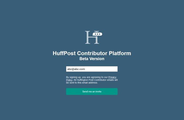 Write for Huffington Post