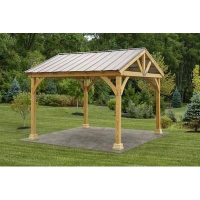 12 Ft. W x 12 Ft. D Solid Wood Patio Gazebo | Patio gazebo ... on Backyard Discovery Pavilion id=17747