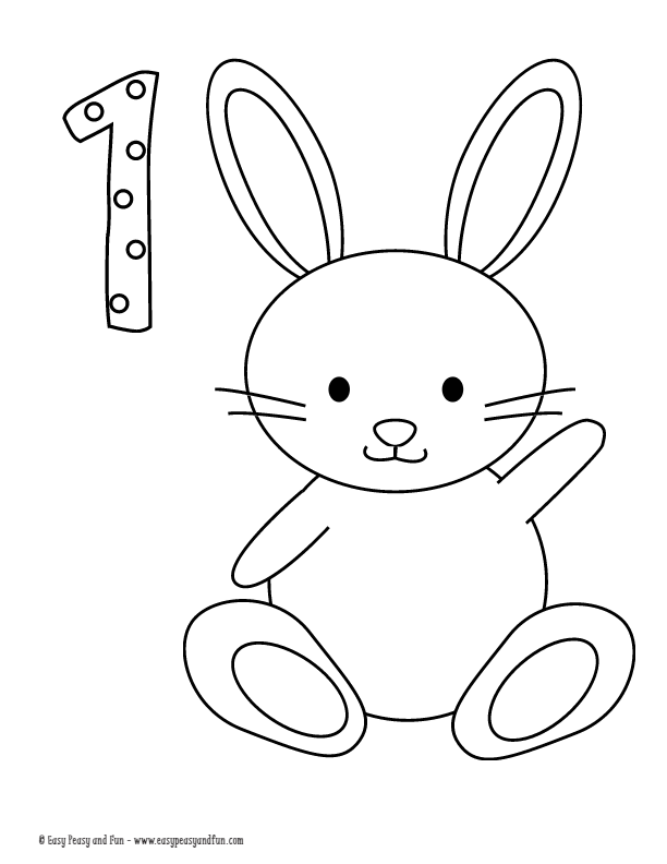1 Den 10 A Kadar Boyama Sayfalari Pdf Dosyasi Easter Coloring Pages Easter Coloring Book Coloring Pages