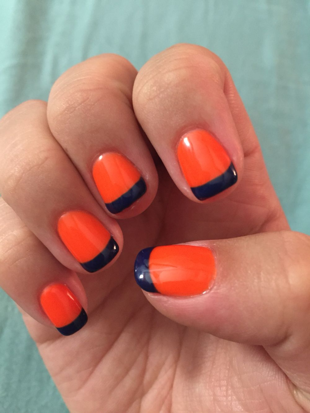 Denver Broncos French Tip Nails ! #BroncosCountry | My Denver ...