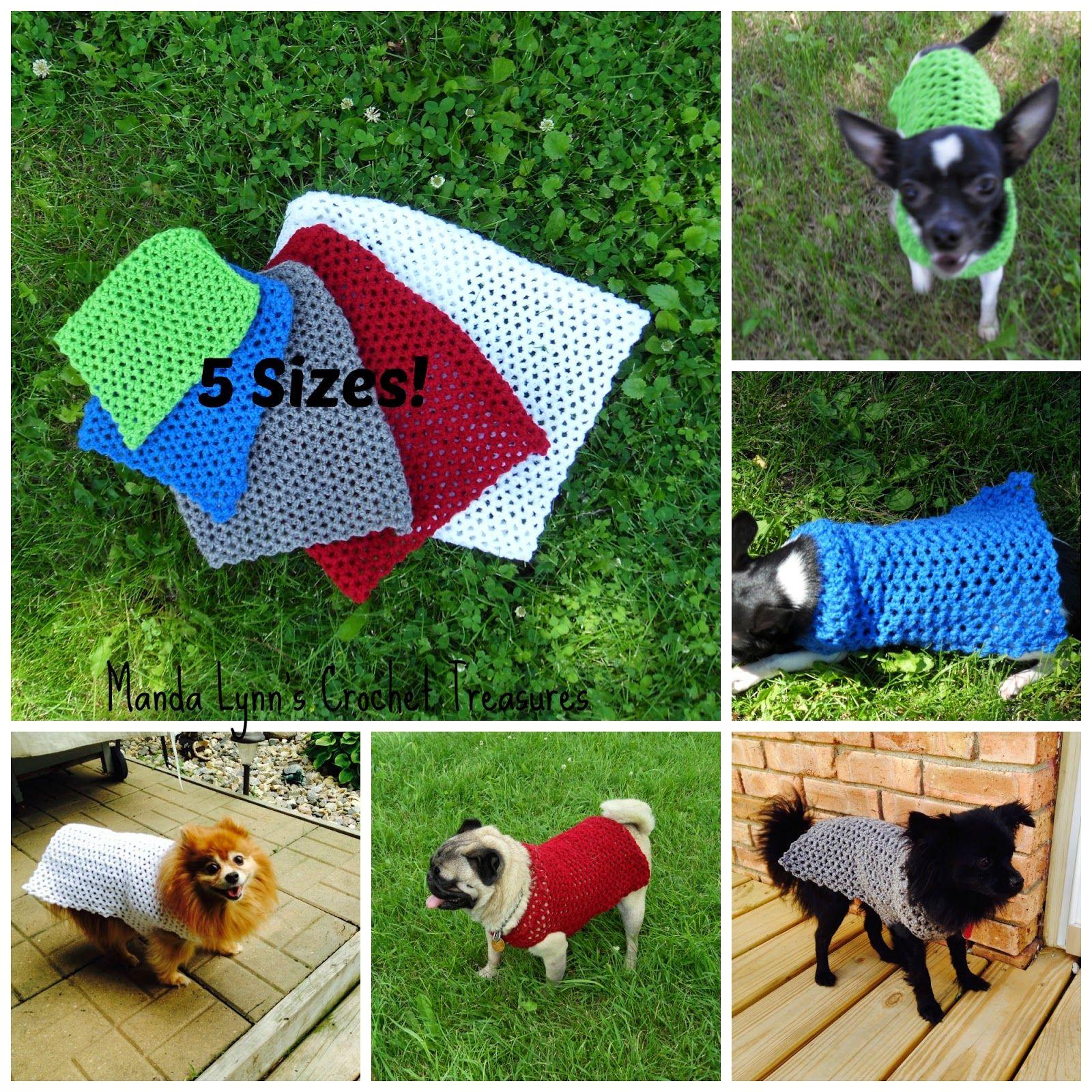 MandaLynn\'s Crochet Treasures : Crochet Any Occasion Dog Sweater 5 ...