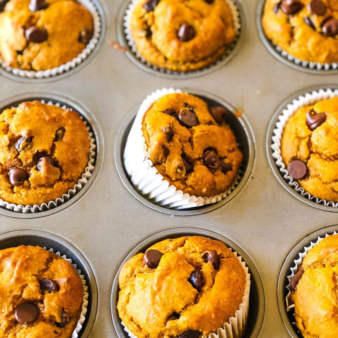 Flourless Pumpkin Muffins (Gluten & Refined-Sugar Free) #pumpkinmuffins