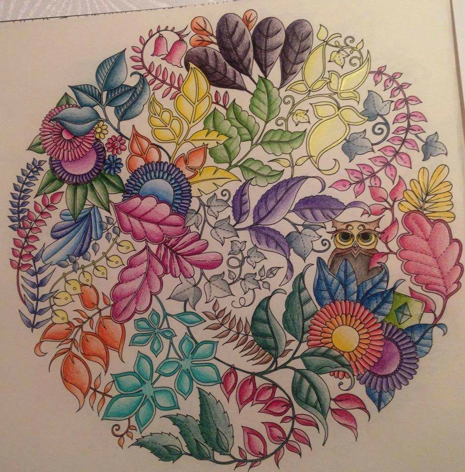 Zendoodle coloring enchanting gardens - Mandala Owls Enchanted Forest Mandala De Corujas Floresta Encantada Johanna Basford Johanna Basfordcoloring Booktatoogarden