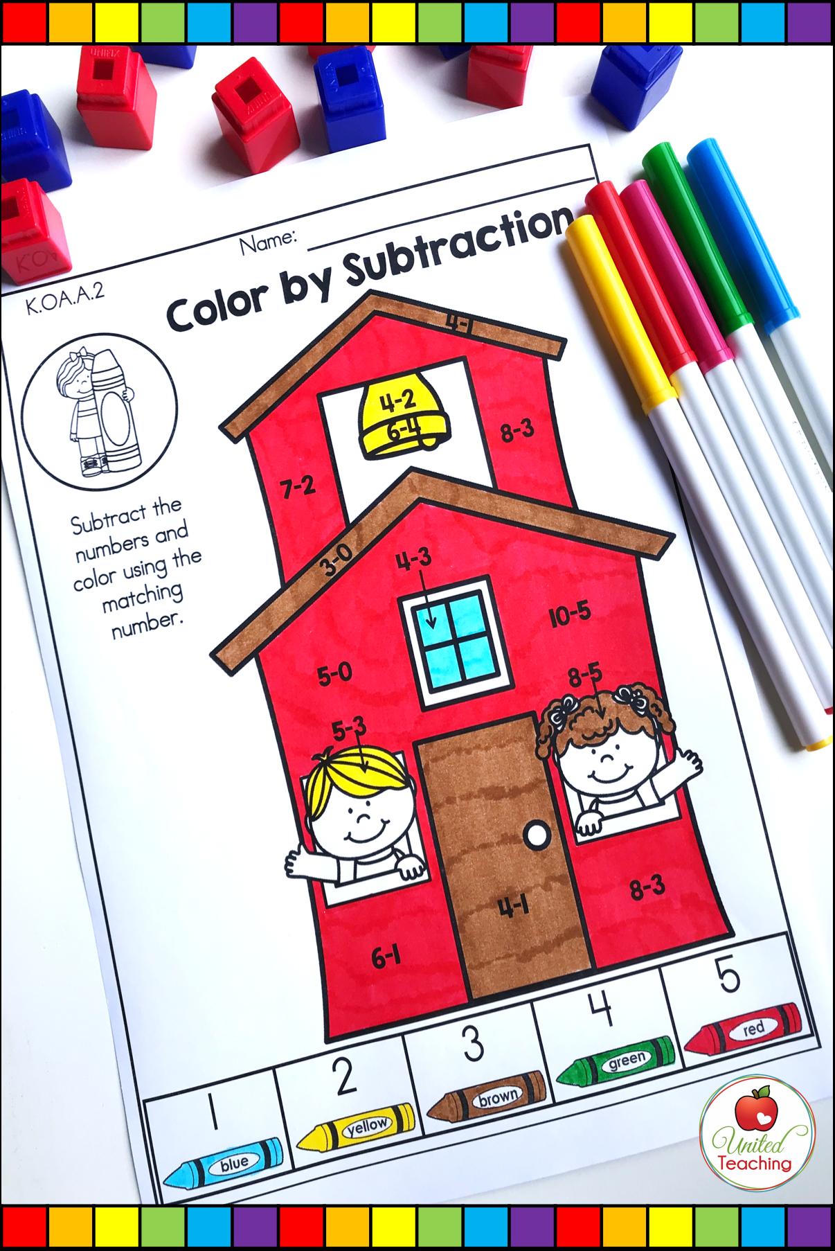 Back To School Math Worksheets Kindergarten