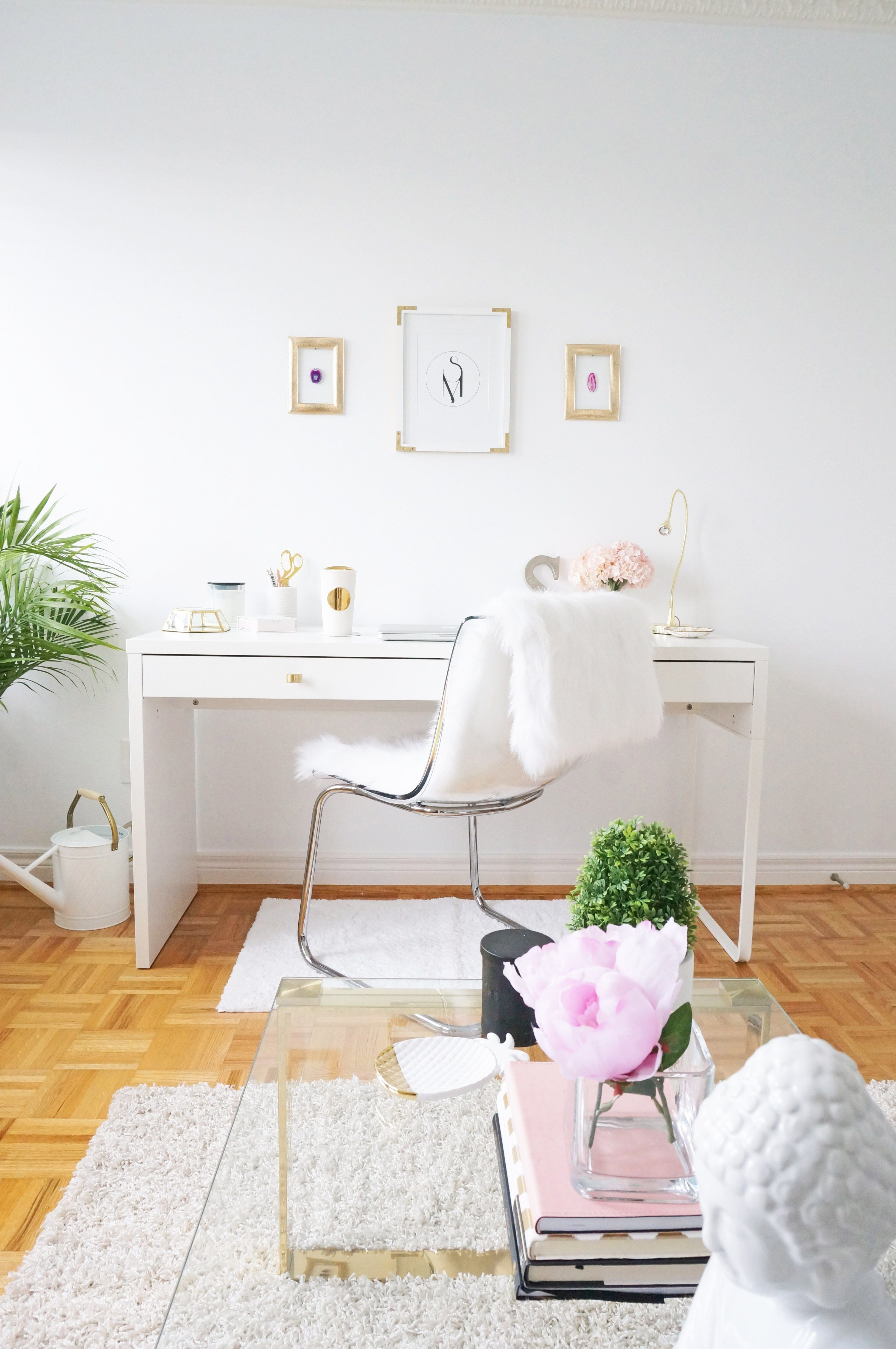 pin hemnes ikea at on desk add white with stain unit desks and