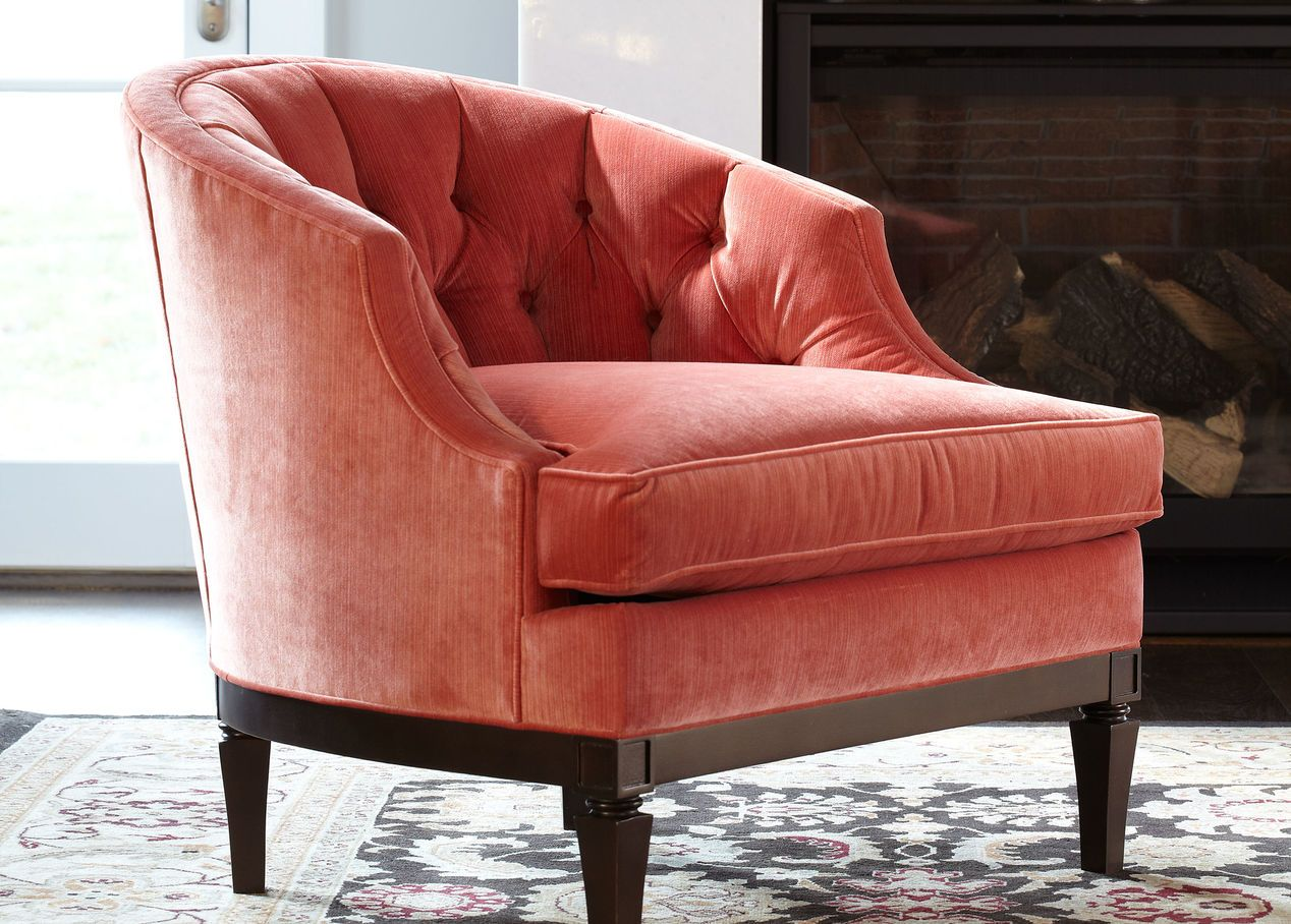 Superbe Tufted Beckett Chair From Ethan Allen | Great Small Scale Chair For Bedroom  Or Living Room. Velvet Chair Is Great To Add Bold Color Into Every Room.  Pink ...