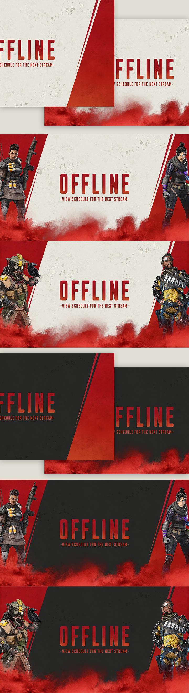 Apex Fps Free Offline Banner Pack Set Of 8 Offline Banner Twitch