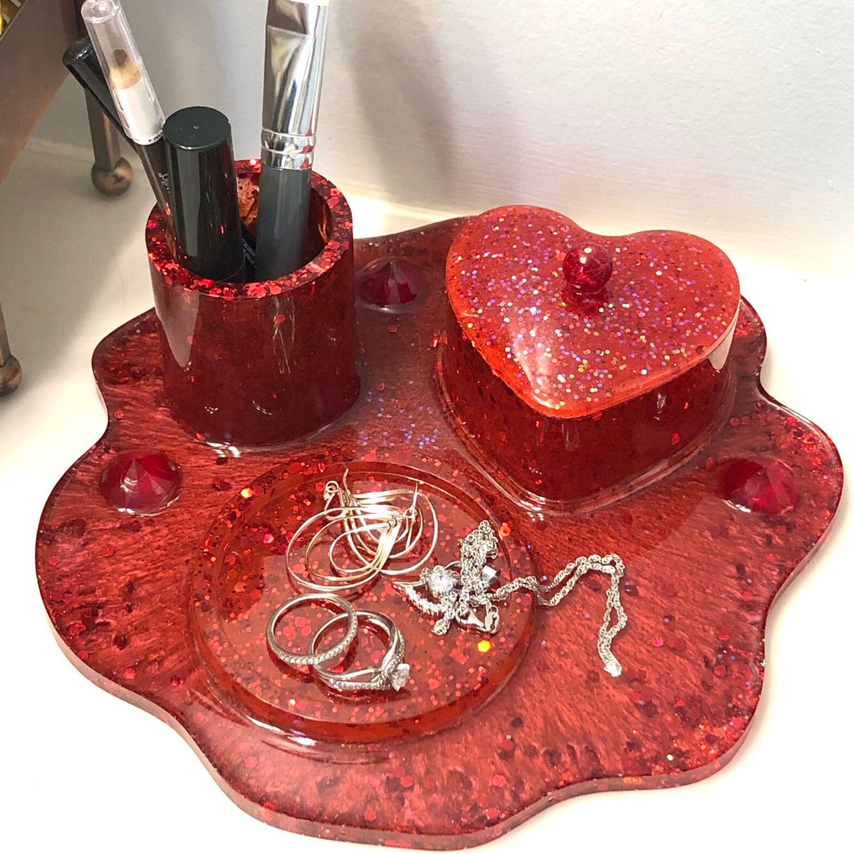 Jewellery bowl Tray Resin Art Epoxy Art Jewellery shelf Ring bowl Jewelry Tray