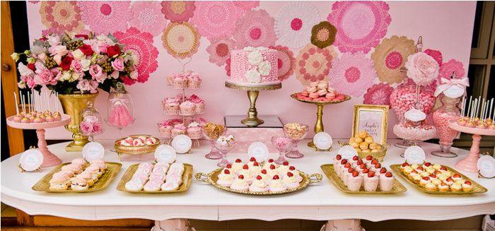 Mesas de dulces mesas decoradas para fiestas pinterest - Mesas para buffet ...