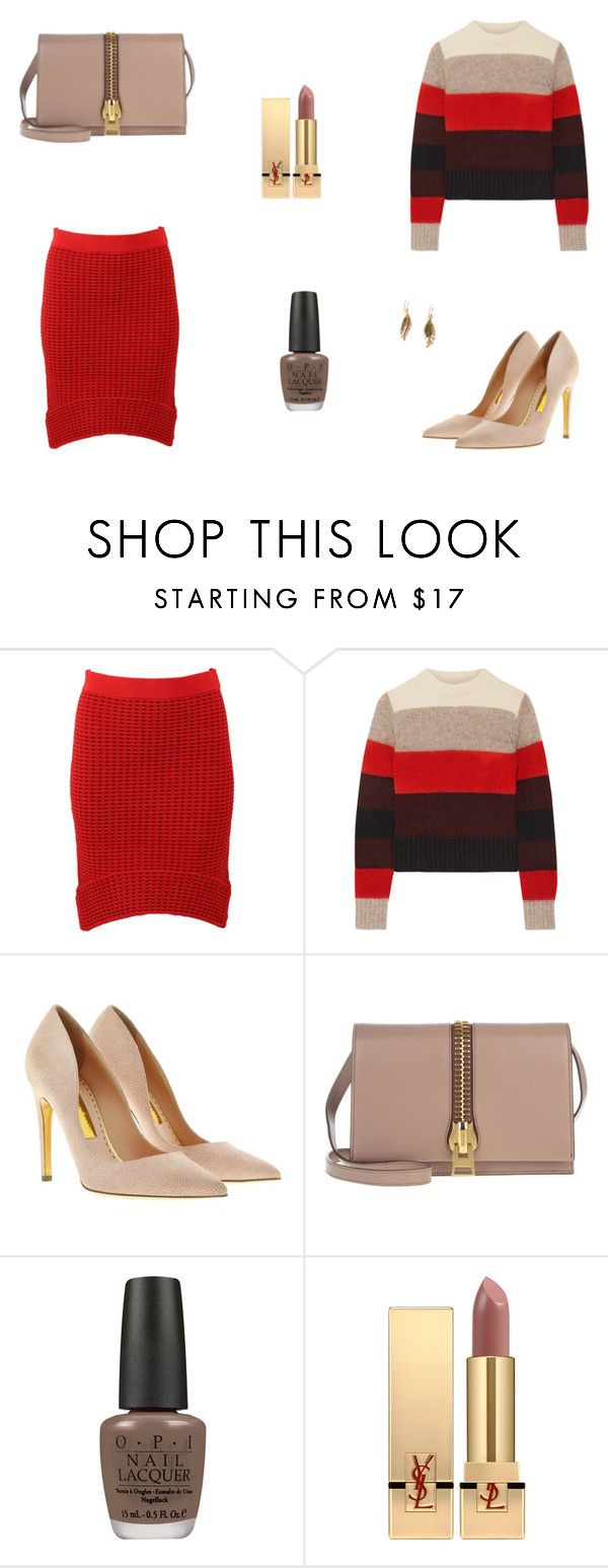 """""""Untitled #7875"""" by mie-miemie ❤ liked on Polyvore featuring Jonathan Simkhai, rag & bone, Rupert Sanderson, Tom Ford, OPI, Yves Saint Laurent and Barse"""