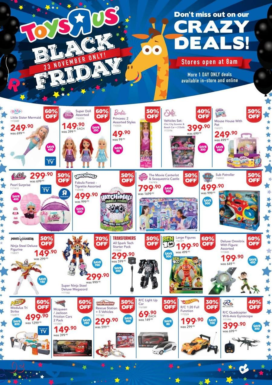 Perfect Toys R Us Black Friday Catalogue 2017 South Africa And View In 2020 Black Friday Toys Toy Catalogs Christmas Sale