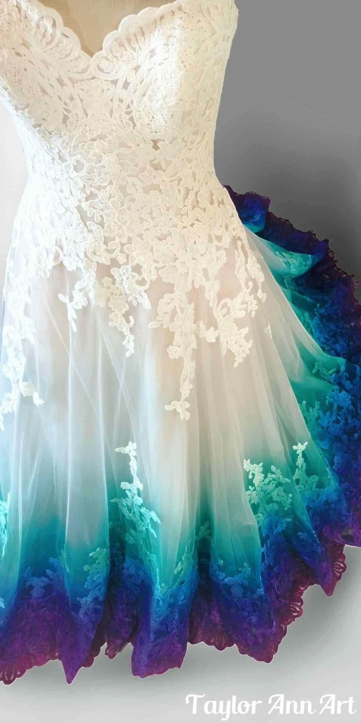 Tie Dye Wedding Dresses For Sale Fresh Peacock Wedding