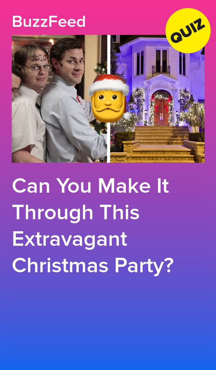 Can You Make It Through This Extravagant Christmas Party
