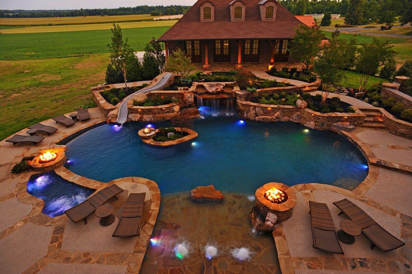 Dreamy | Luxury pools backyard, Backyard pool, Dream pools