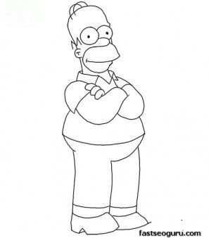 Printable Homer Simpson Coloring Page Printable Coloring Pages