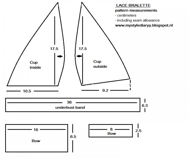 Cómo hacer un Patrón de Bralette, Super fácil! – Patrones De Costura ...