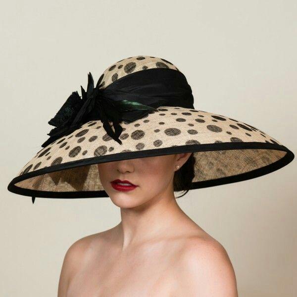 Black and WhiteKentucky derby hatCouture hat Derby hat