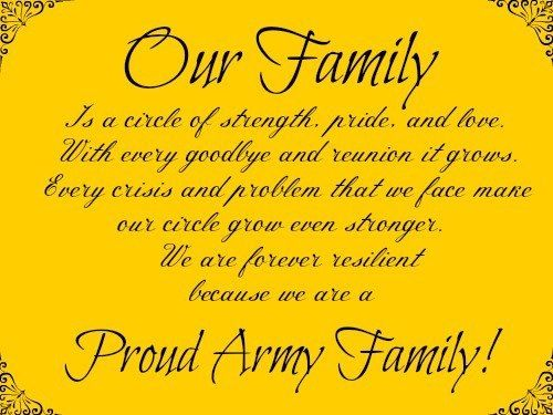 Proud Army Family Army family