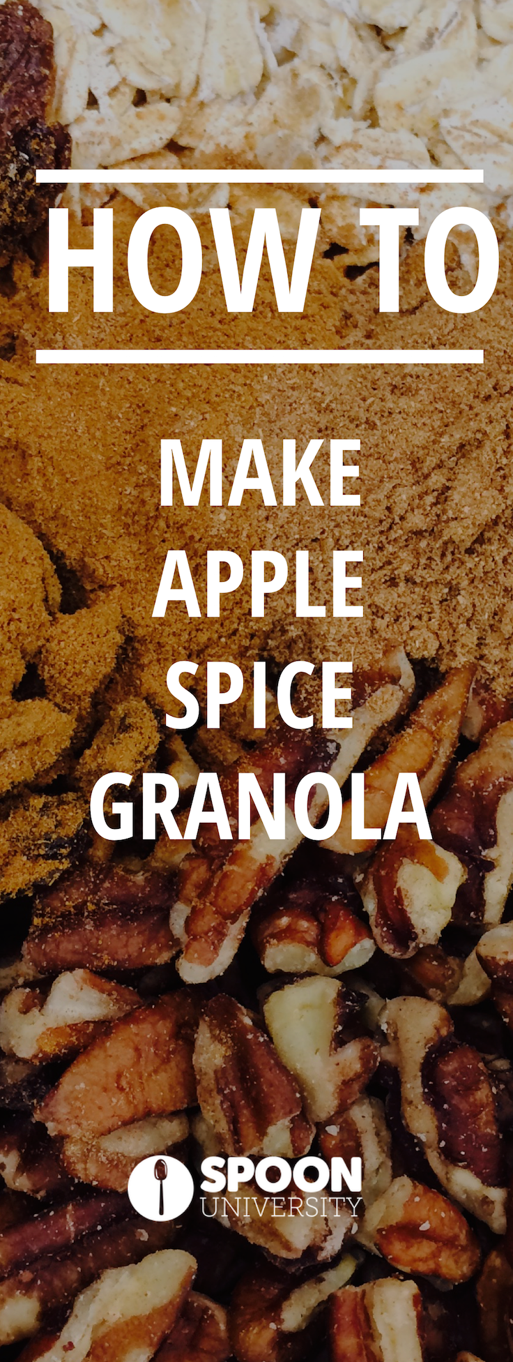 This #apple #spice #granola is the perfect addition to your #breakfast. It packs all the flavor and none of the guilt of a slice of apple pie, and makes the perfect breakfast, snack, or light dessert to celebrate Fall.