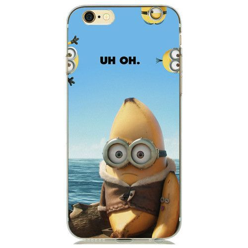 2016 New Designs Funny Despicable Me Minion Case Cover for capinhas iphone 7 6s 6 5s fundas Transparent Soft Clear Gel holster