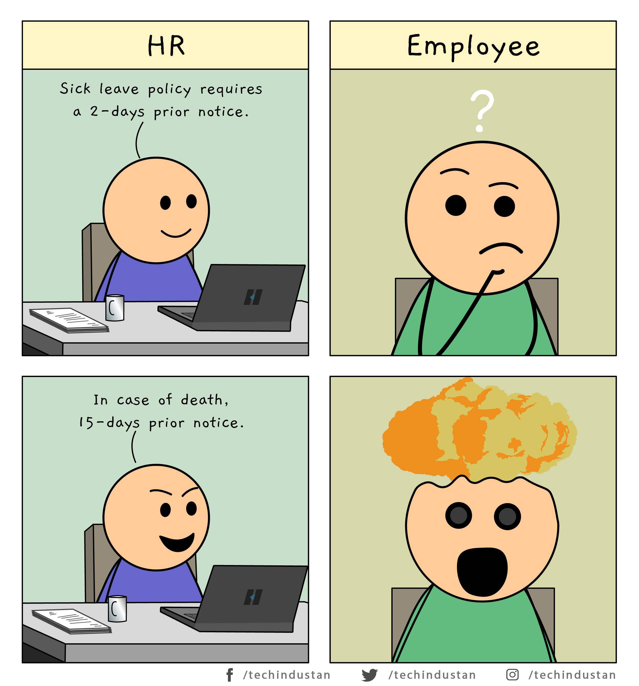 Funny Leave Policy Programmer Humor Programming Humor Programing Jokes