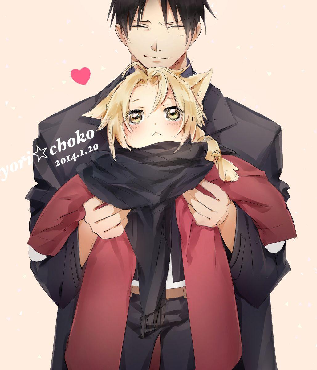 Fullmetal Alchemist Roy Holding Adorable Chibi Neko Ed! SO
