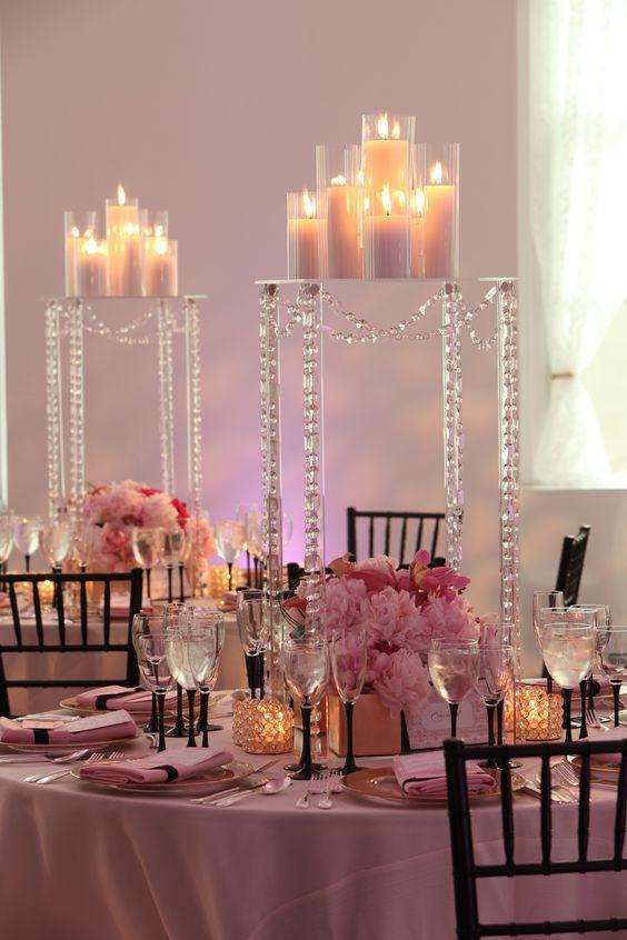 36-centros-mesa-cristal (22) Ideas para Fiestas de quinceañera