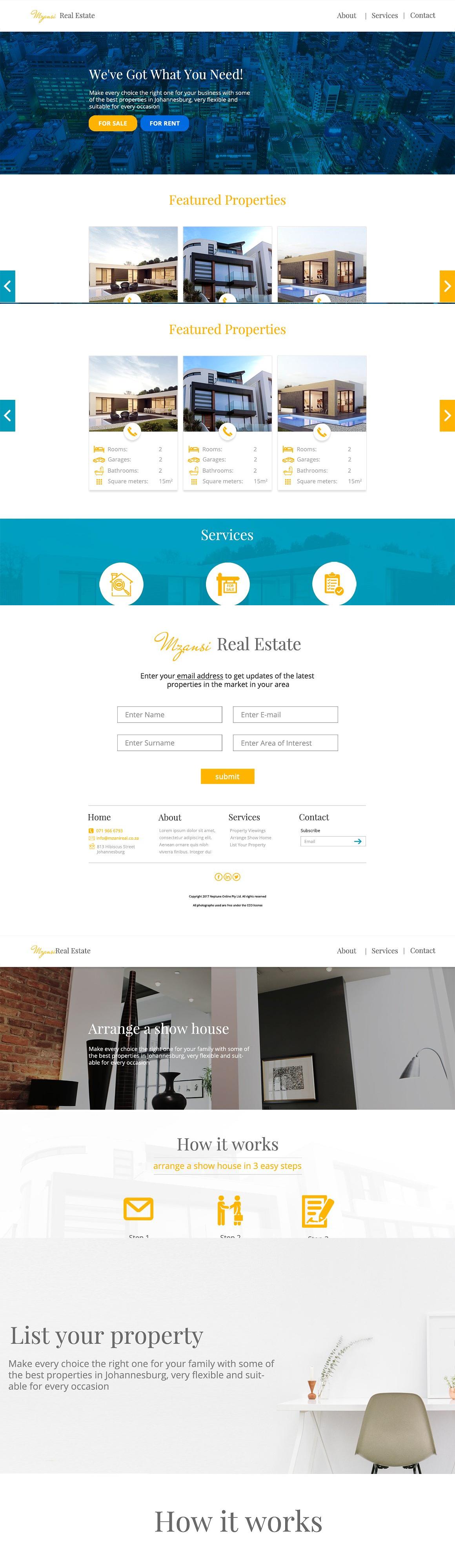 Minimalistic Real Estate Website PSD | web design | Pinterest