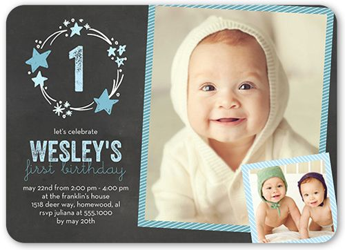 Stellar Birthday Boy Birthday Invitation Products - invitation card for ist birthday