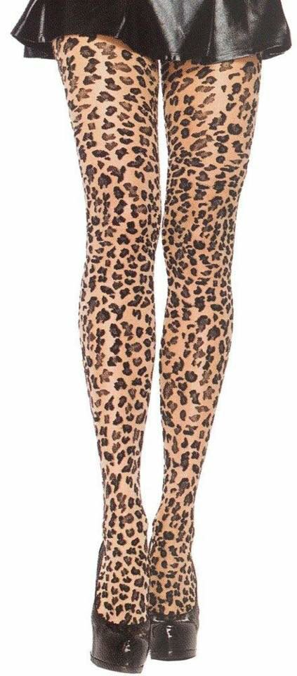 Betsey Johnson Women/'s Brown Leopard Cheetah Animal Print Tights Hosiery NIP