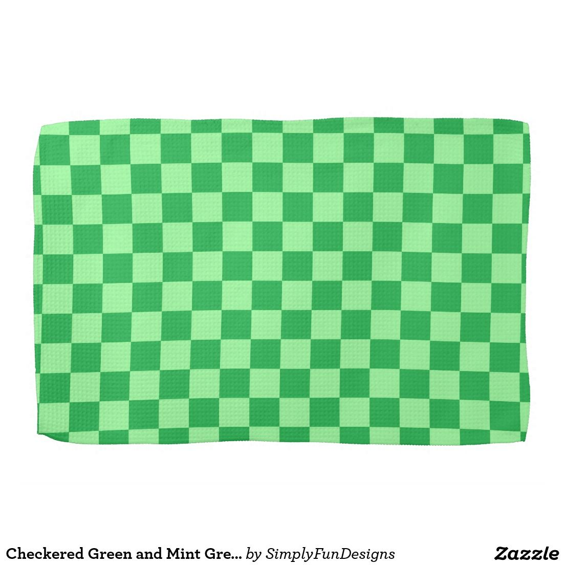Green And Mint Kitchen Towel