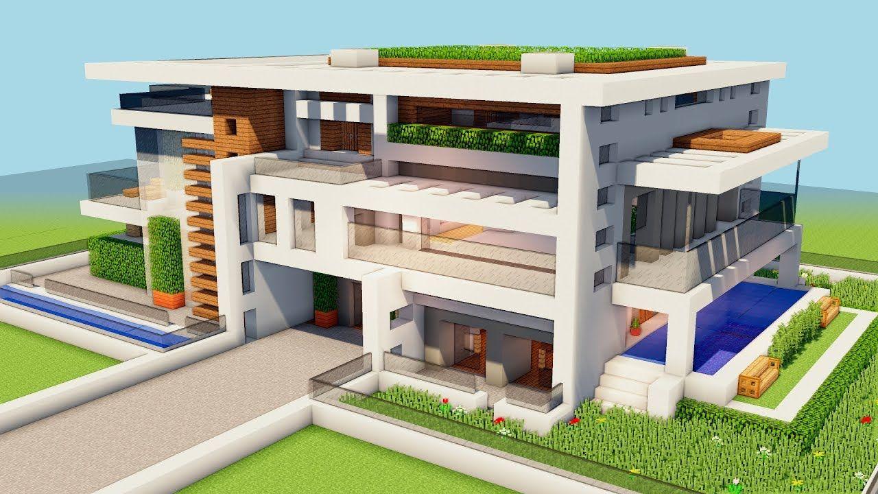 Modern House Minecraft Tutorial : Minecraft Modern House ...