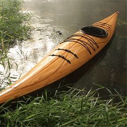 The Cedar Strip Wood Kayak from Justin Charles  Made in the USA