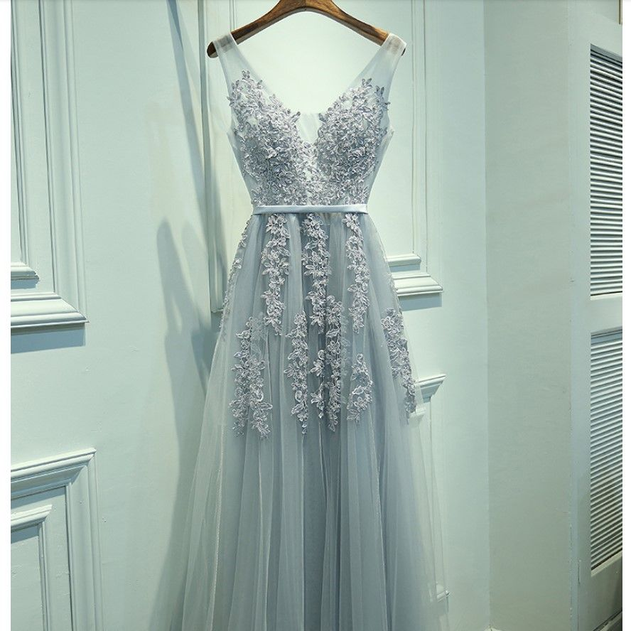 Free shipping customized a line party gown formal long evening