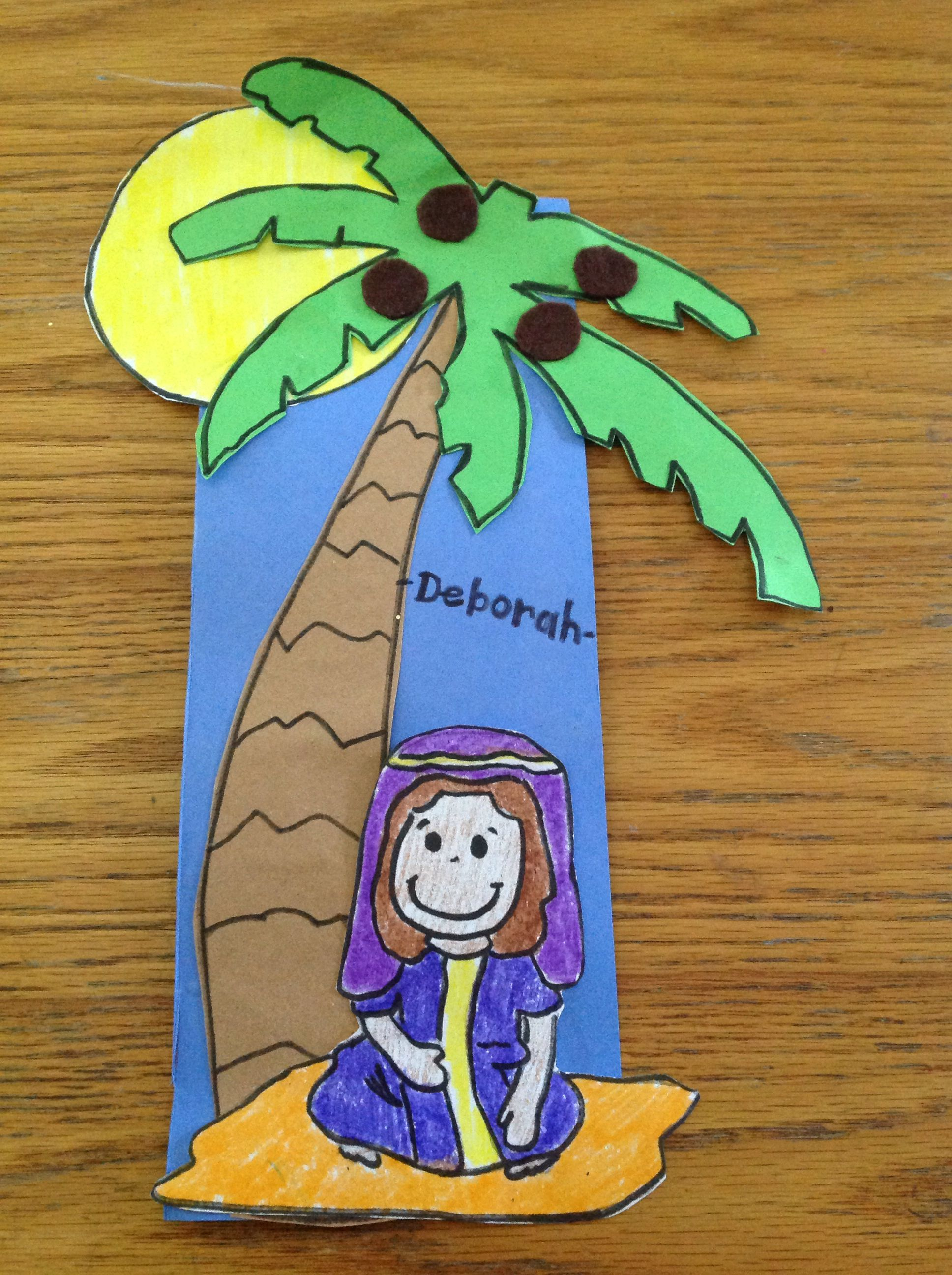 Deborah bible craft by lety sunday school pinterest for Bible school crafts for toddlers