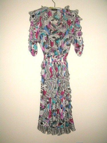 fdaee1caa04c Vintage 1980s DIANE FRES Dress signature fabric | Diane Freis ...