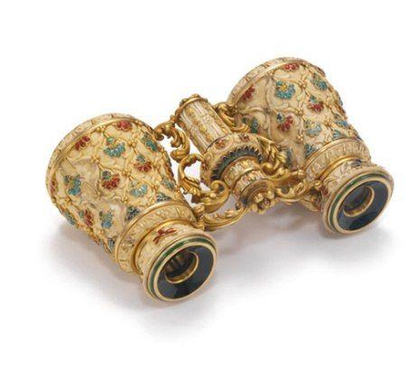 1892 г. Театральный бинокль Слоновая кость, эмаль, золото