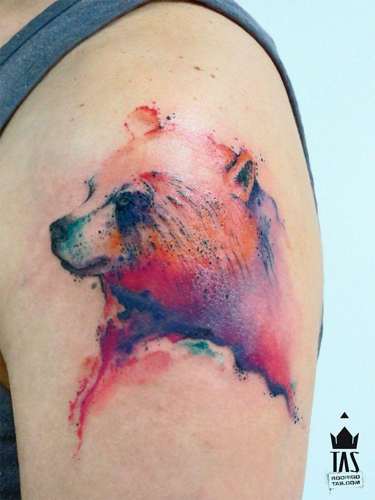 Tatuagem Urso | Bear | Tatuagens de urso, Ideias de ... Watercolor Bear Tattoo