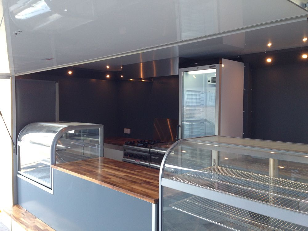 Our Clients Visons And Our Expertise Combined A Wood Burning Pizza Oven In A Van Mirrored Walls Oak Workt Food Truck Interior Coffee Truck Coffee Food Truck