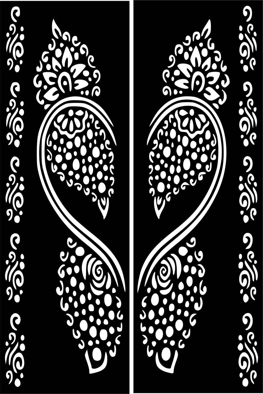variety henna temporary tattoo glitter stencil sticker body art