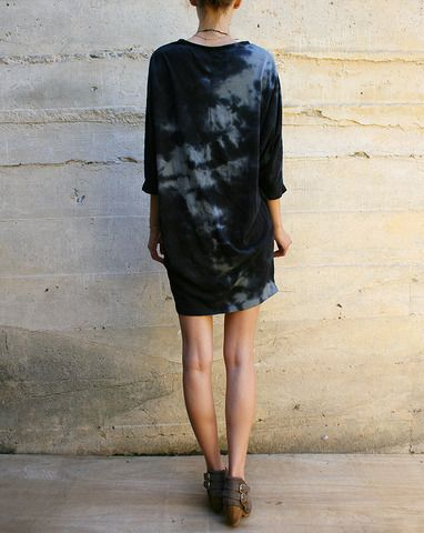 Black Crane - I would wear as a tunic over very tailored black ankle pants or loose wide pants.