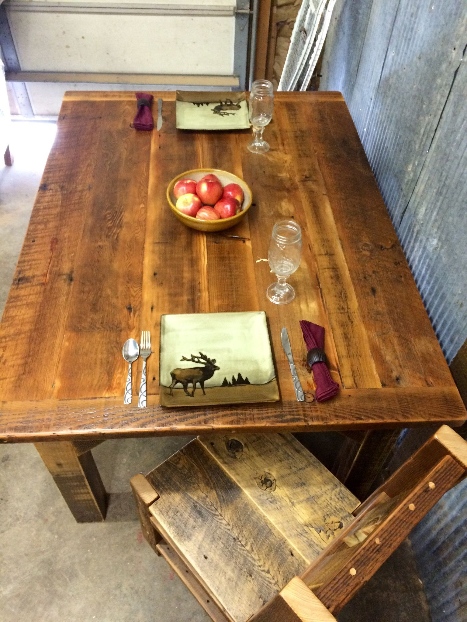 This reclaimed wood dining table, will take your dining room to the next level. There are pre-selected sizes which you can order from, or you can have the table made custom for the size that fits your