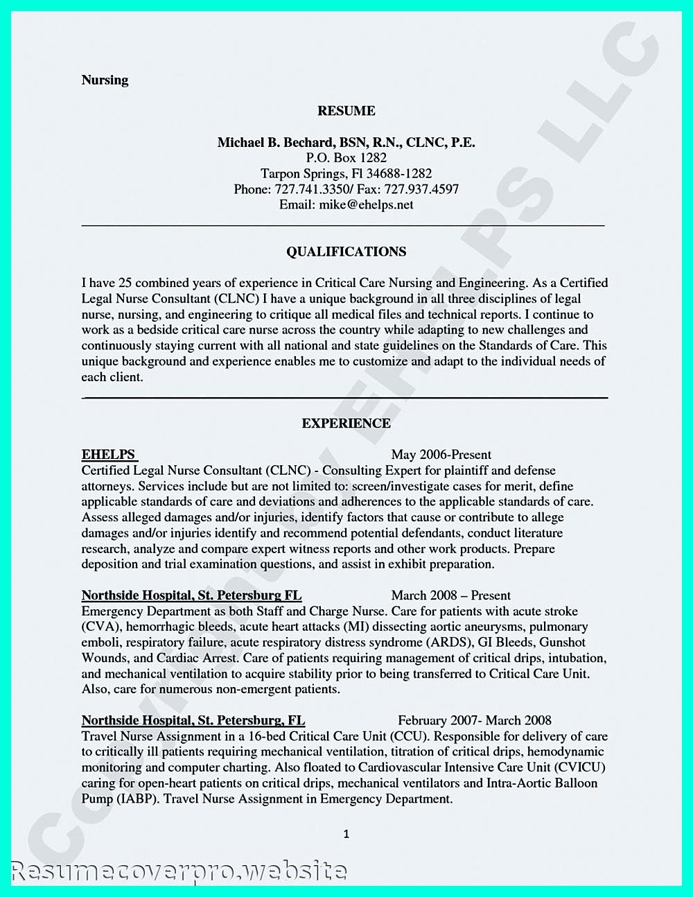 Travel Nurse Resume Critical Care Nurse Resume Has Skills Or Objectives That Are