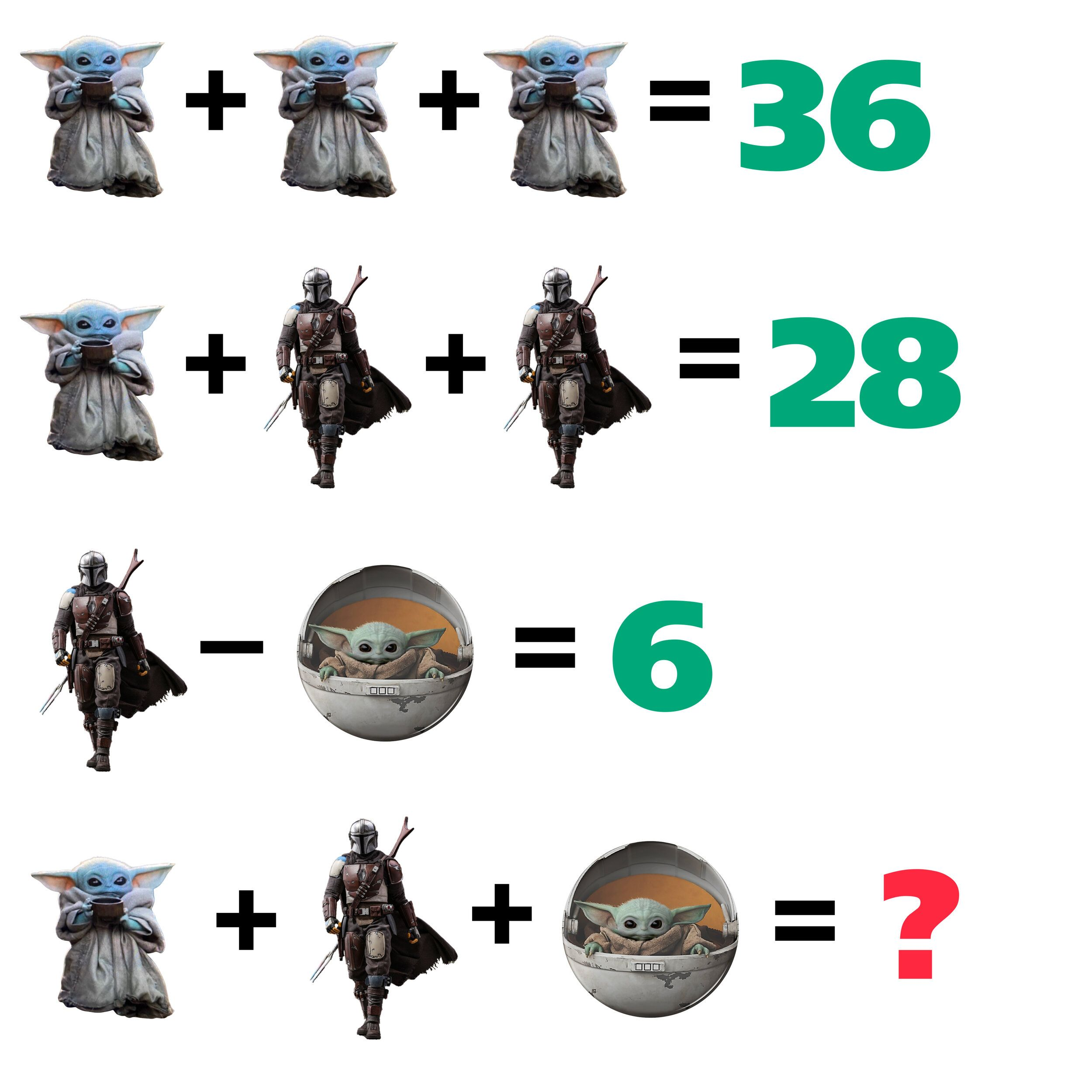 Solve These Baby Yoda Math Puzzles Can You