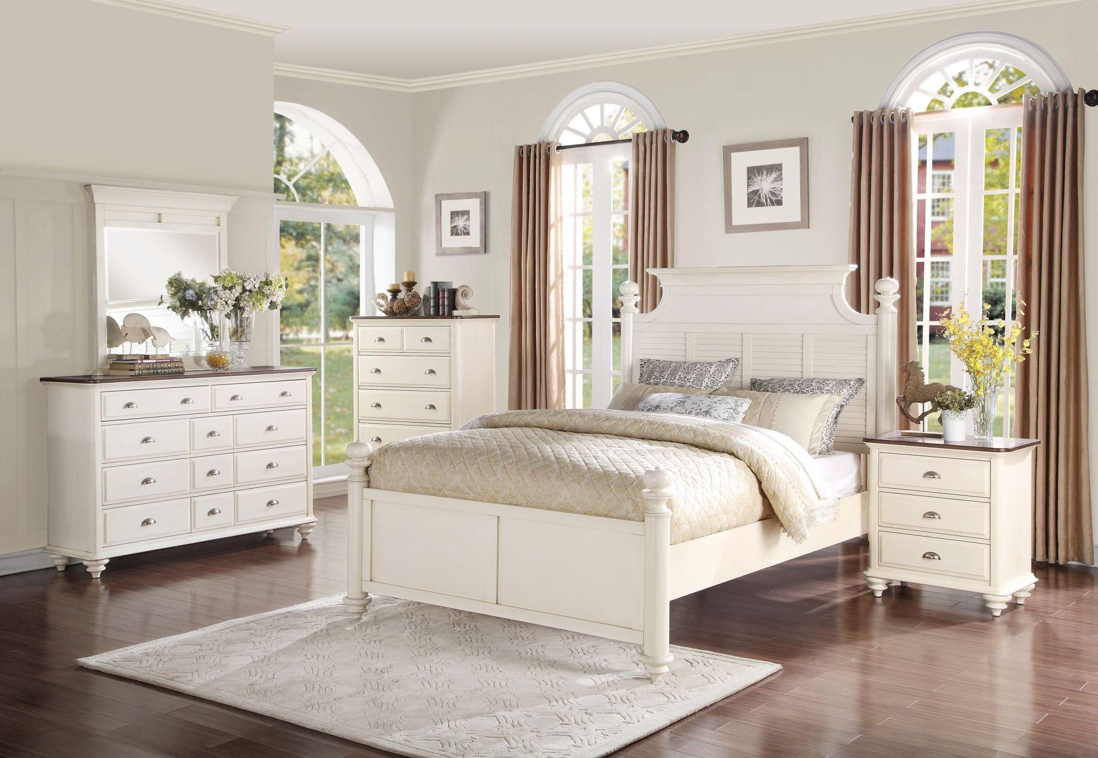 Floresville Antique White Dresser Wood Bedroom Sets California