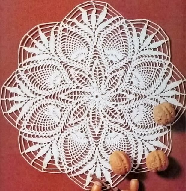 Crochet Art Crochet Doily Free Pattern Pineapple Crochet