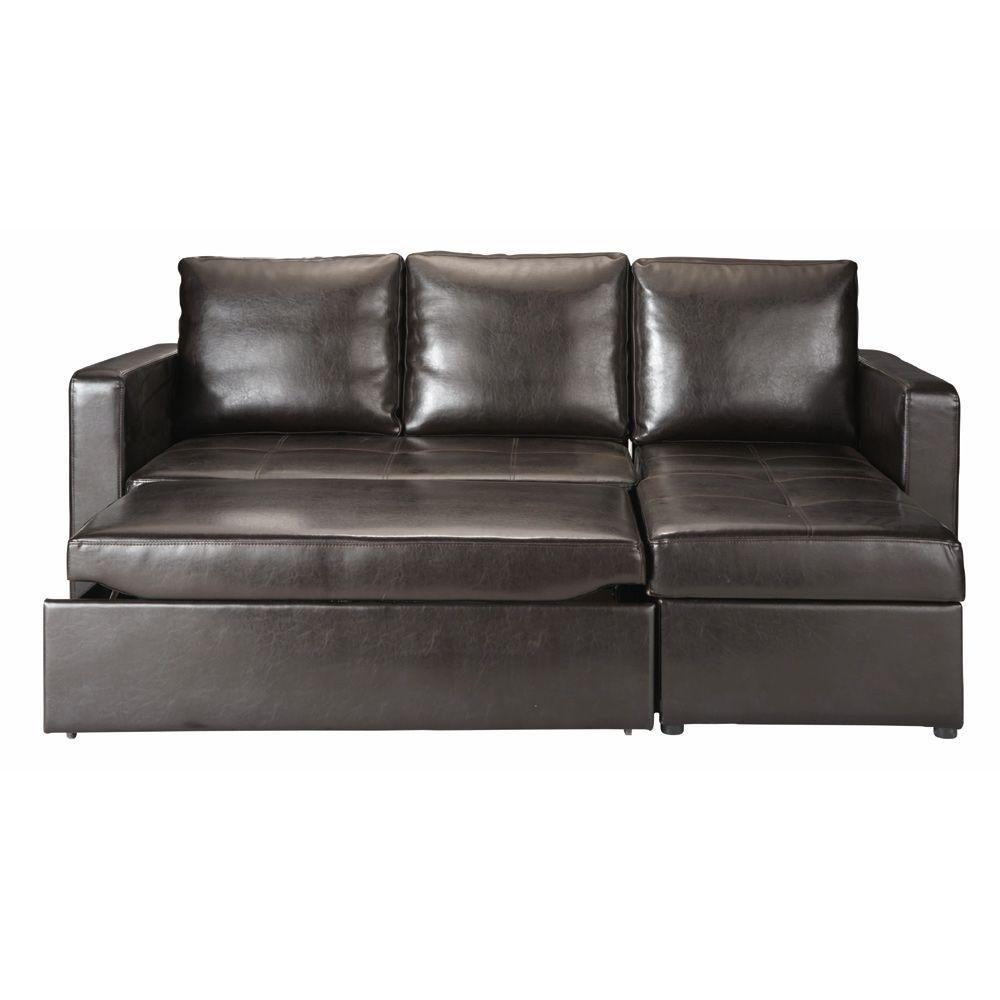 Divano ad angolo trasformabile marrone 3 posti divano sala 3 seat sofa bed sofa sofa bed - Divano letto toronto ...