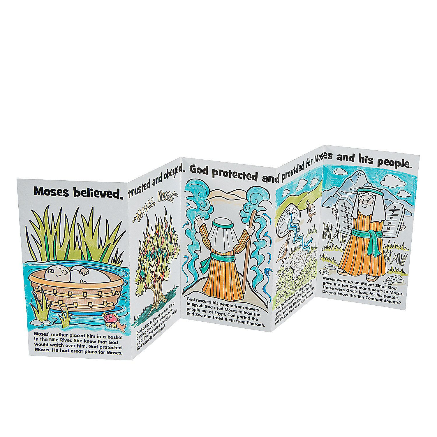 Color Your Own Moses Story Books Orientaltrading